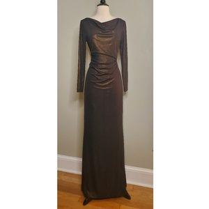 Lauren Ralph Lauren Bronze Metallic Evening Gown